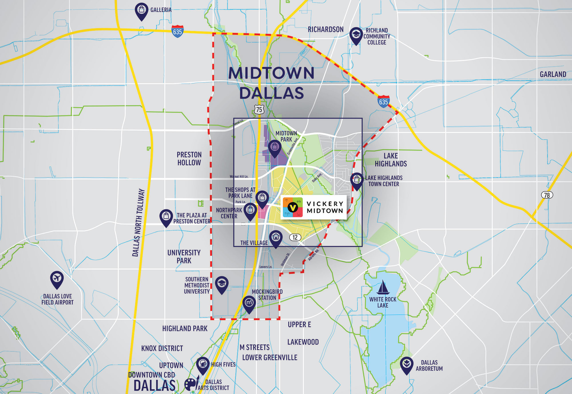 Dallas Midtown Map